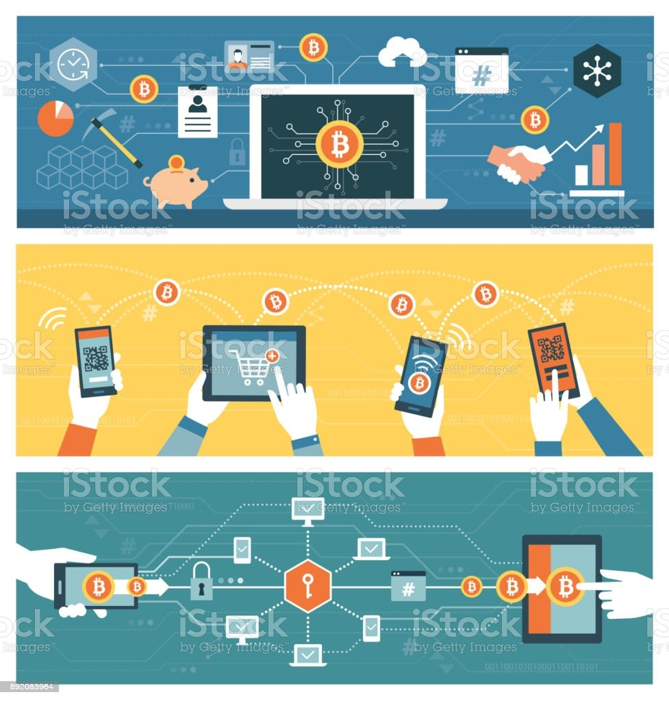 Blockchains Cryptocurrency And Finance Stock Illustration ...