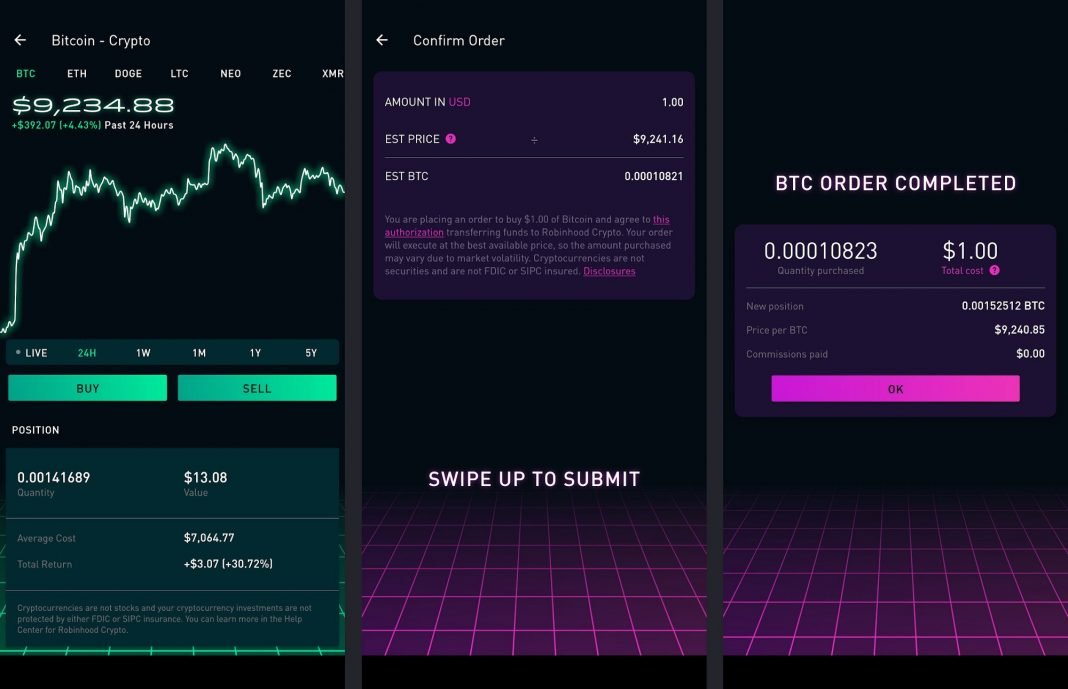 heres what buying bitcoin on robinhood is really like