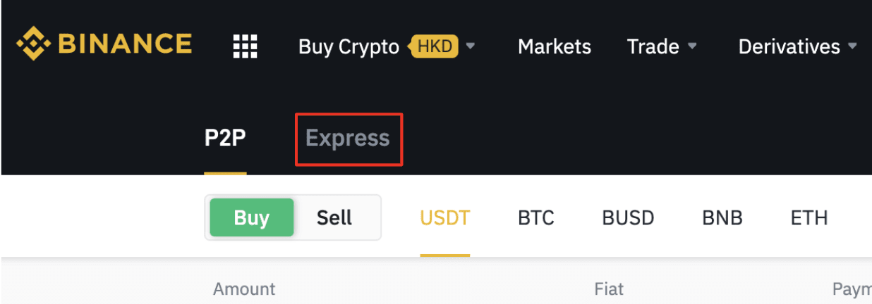 How to use P2P Express zone to buy crypto/sell crypto on ...